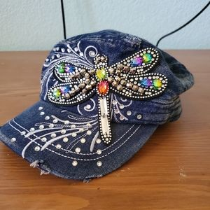 Premium Dragonfly Bling hat.